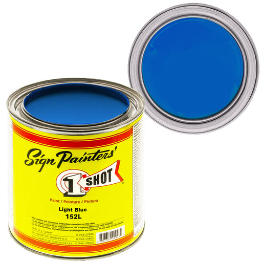 Light Blue Pinstriping Lettering Enamel Paint, 1 Quart