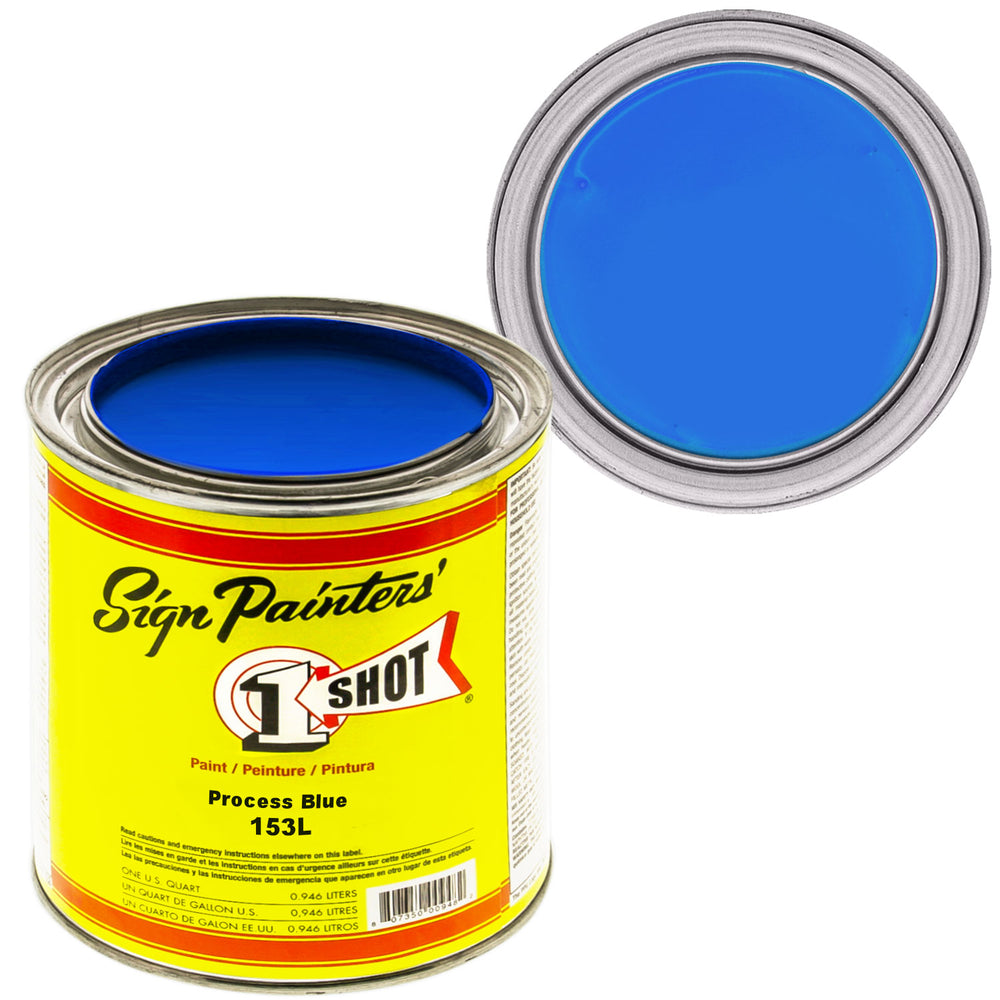 Process Blue Pinstriping Lettering Enamel Paint, 1 Quart