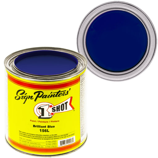 Brilliant Blue Pinstriping Lettering Enamel Paint, 1 Quart