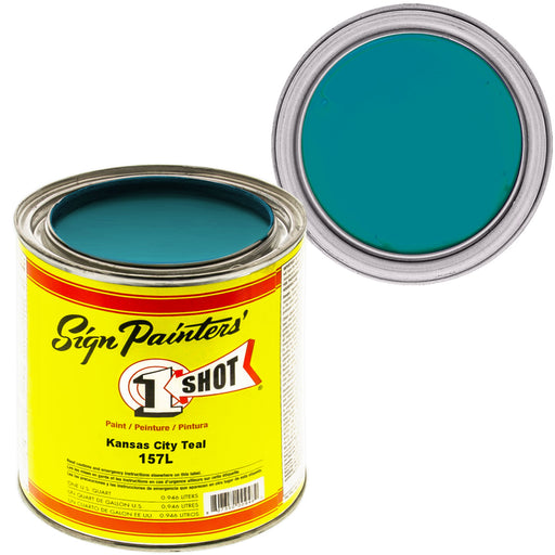 Kansas City Teal Pinstriping Lettering Enamel Paint, 1 Quart