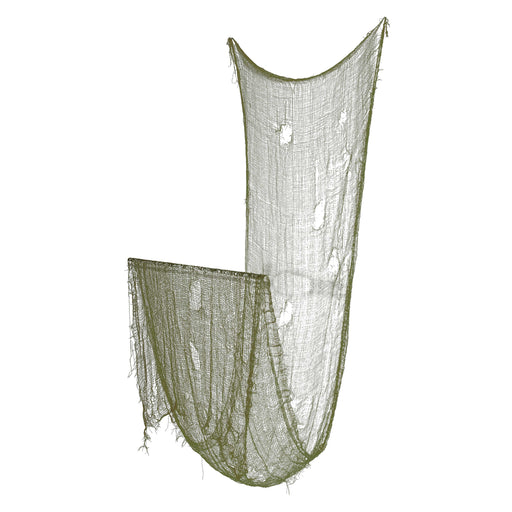 Halloween Haunters Green Freaky Loose Weave Creepy Cloth Fabric - Drape on Props and Decor for Spooky, Scary Haunted Houses (Pack of 3)