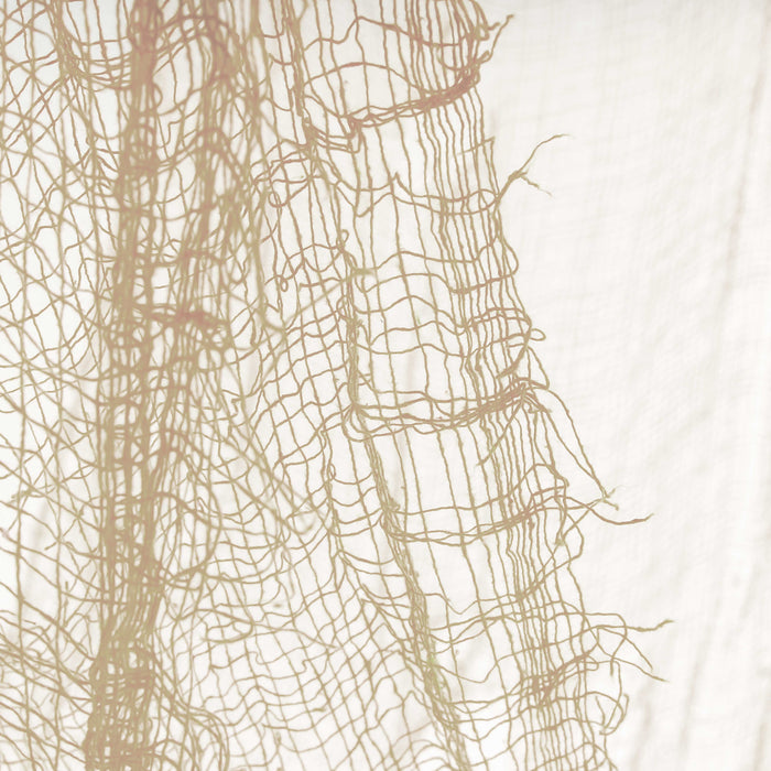Halloween Haunters Cream Freaky Loose Weave Creepy Cloth Fabric - Drape on Props and Decor for Spooky, Scary Haunted Houses (Pack of 3)