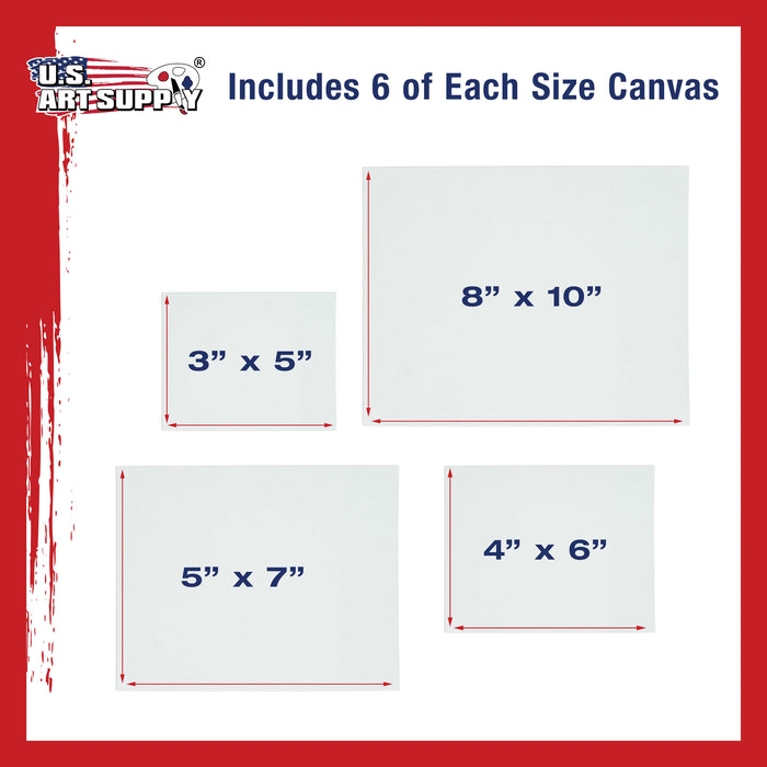 Small Canvas Panel Assortment Pack, 24 Total Panels