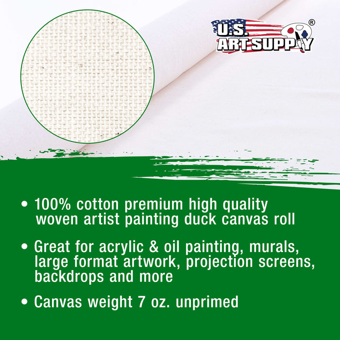 "63"" x 6 Yard Un-Primed 100% Cotton 7oz Canvas Roll"