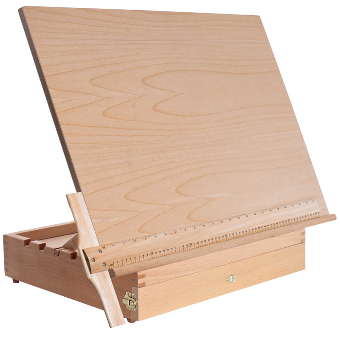 "Extra Large Adjustable Wood Artist Drawing & Sketching Board 26"" Wide x 20-1/2"" Tall with Storage Drawer"