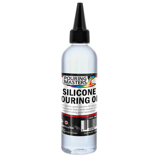 Silicone Pouring Oil - 6-Ounce - 100% Silicone for Dramatic Cell Creation in Acrylic Paint