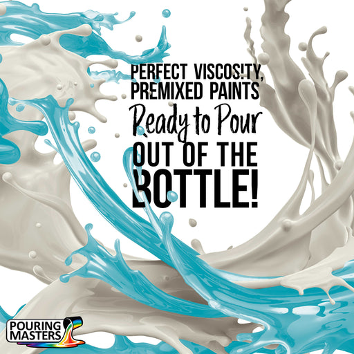 Sky Blue Acrylic Ready to Pour Pouring Paint – Premium 32-Ounce Pre-Mixed Water-Based - for Canvas, Wood, Paper, Crafts, Tile, Rocks and More