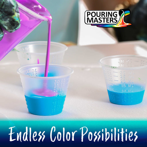 Cerulean Blue Acrylic Ready to Pour Pouring Paint Premium 64-Ounce Pre-Mixed Water-Based - for Canvas, Wood, Paper, Crafts, Tile, Rocks and More