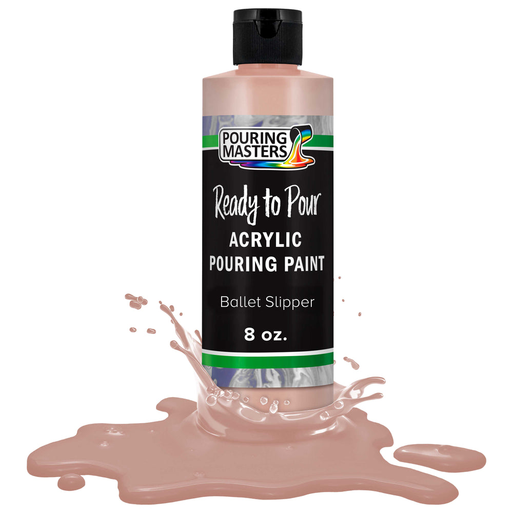 Ballet Slipper Acrylic Ready to Pour Pouring Paint Premium 8-Ounce Pre-Mixed Water-Based - for Canvas, Wood, Paper, Crafts, Tile, Rocks and More