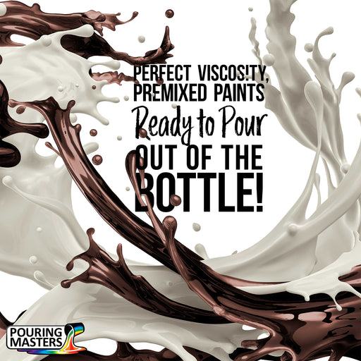 Chocolate Brown Acrylic Ready to Pour Pouring Paint – Premium 32-Ounce Pre-Mixed Water-Based - for Canvas, Wood, Paper, Crafts, Tile, Rocks and More