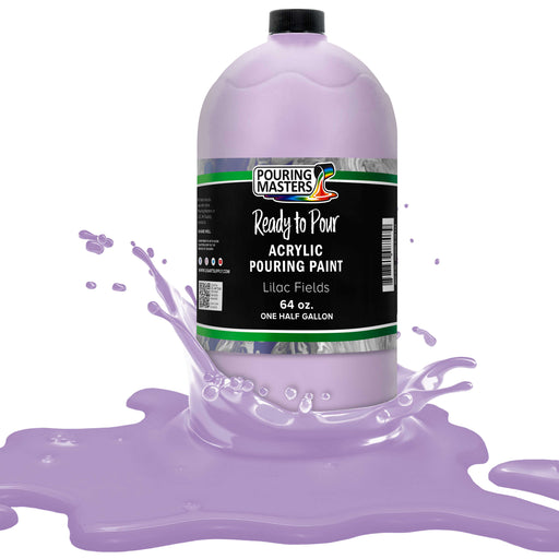 Lilac Fields Acrylic Ready to Pour Pouring Paint Premium 64-Ounce Pre-Mixed Water-Based - for Canvas, Wood, Paper, Crafts, Tile, Rocks and More