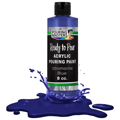Ultramarine Blue Acrylic Ready to Pour Pouring Paint – Premium 8-Ounce Pre-Mixed Water-Based - for Canvas, Wood, Paper, Crafts, Tile, Rocks and More