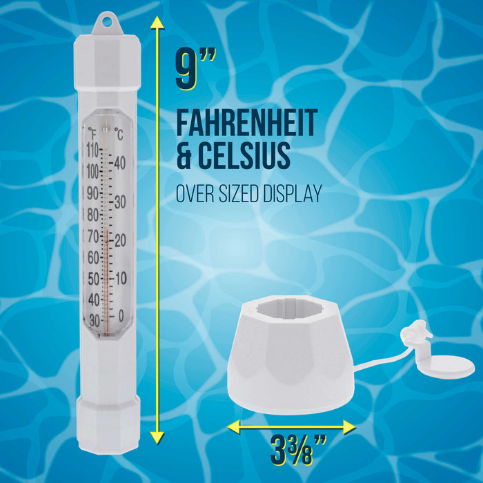 Floating Buoy Pool Thermometer with Jumbo Easy-To-Read Temperature Display