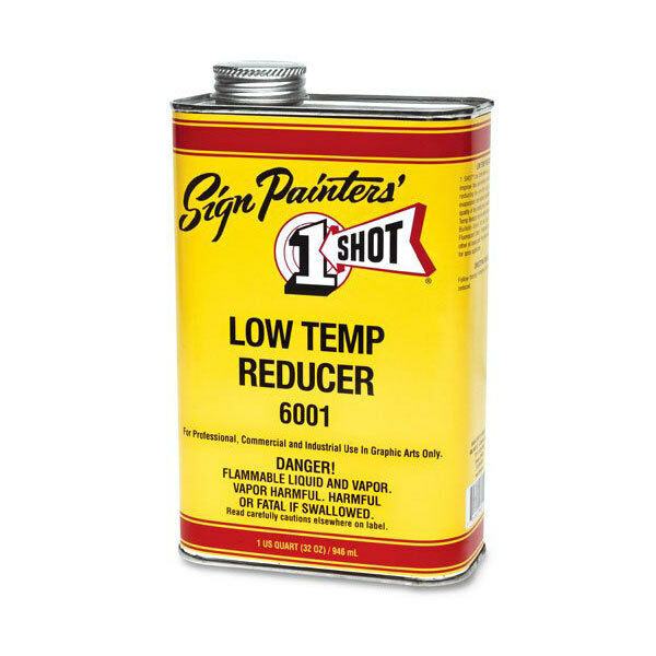 One Shot 6001 Low Temp Enamel Reducer, Quart