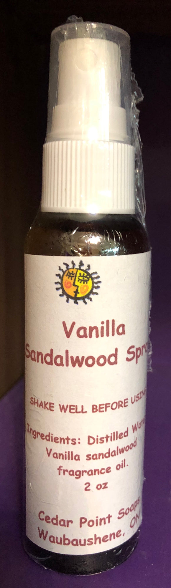 Vanilla sandalwood spray