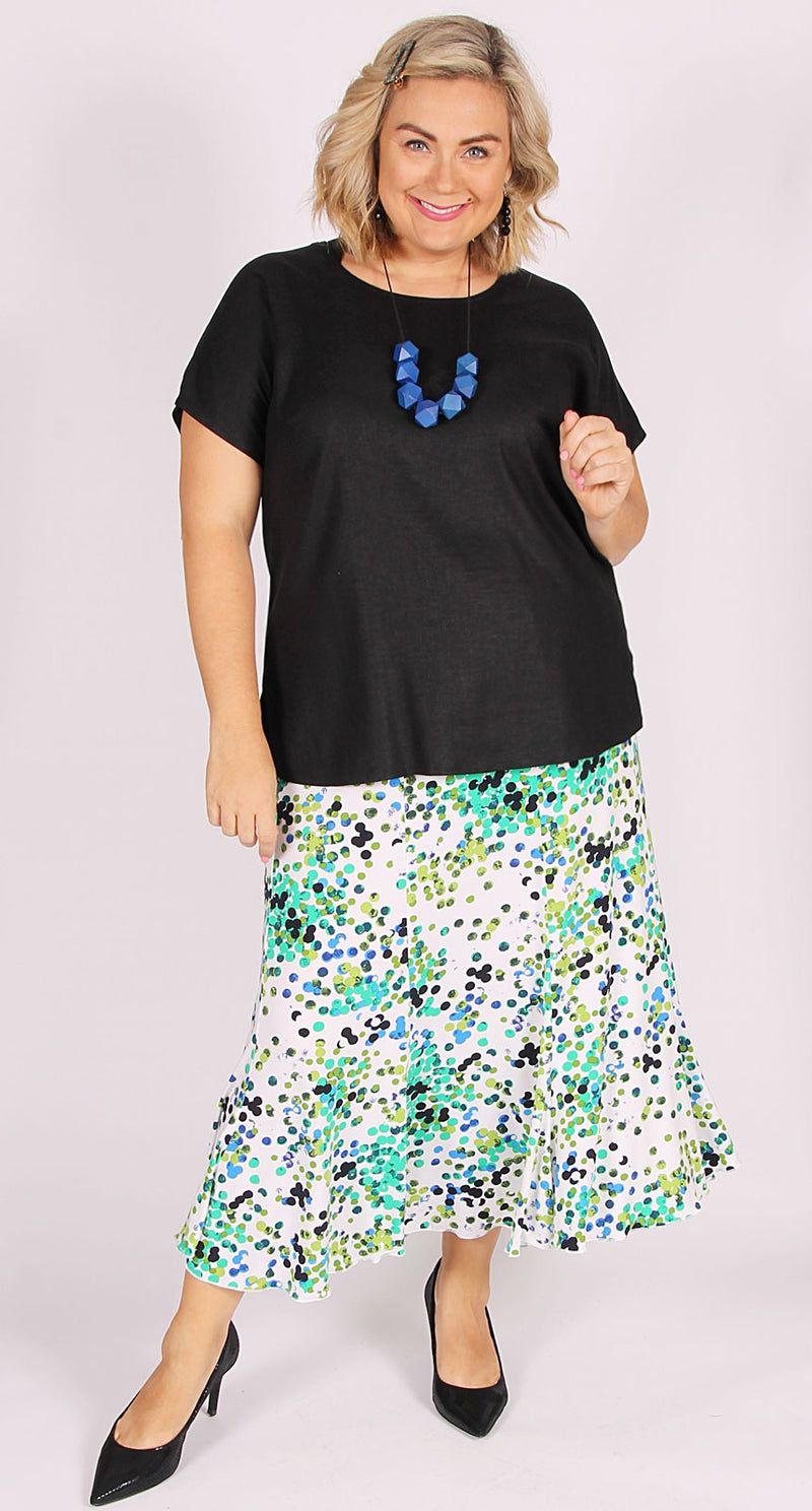 Fit & Flare Skirt Clean Summer Spots