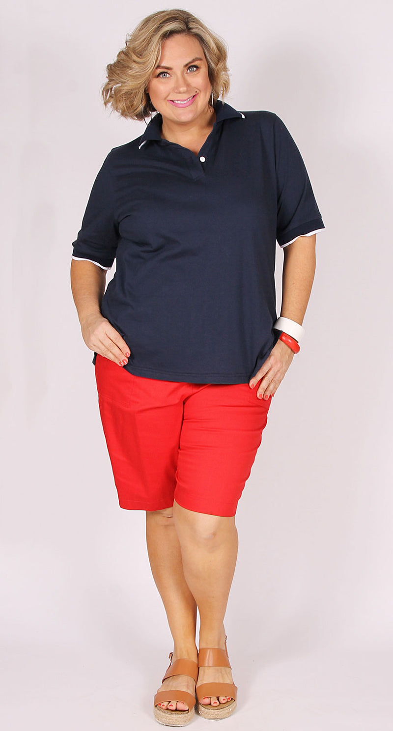 Summer Essential Walk Short Red