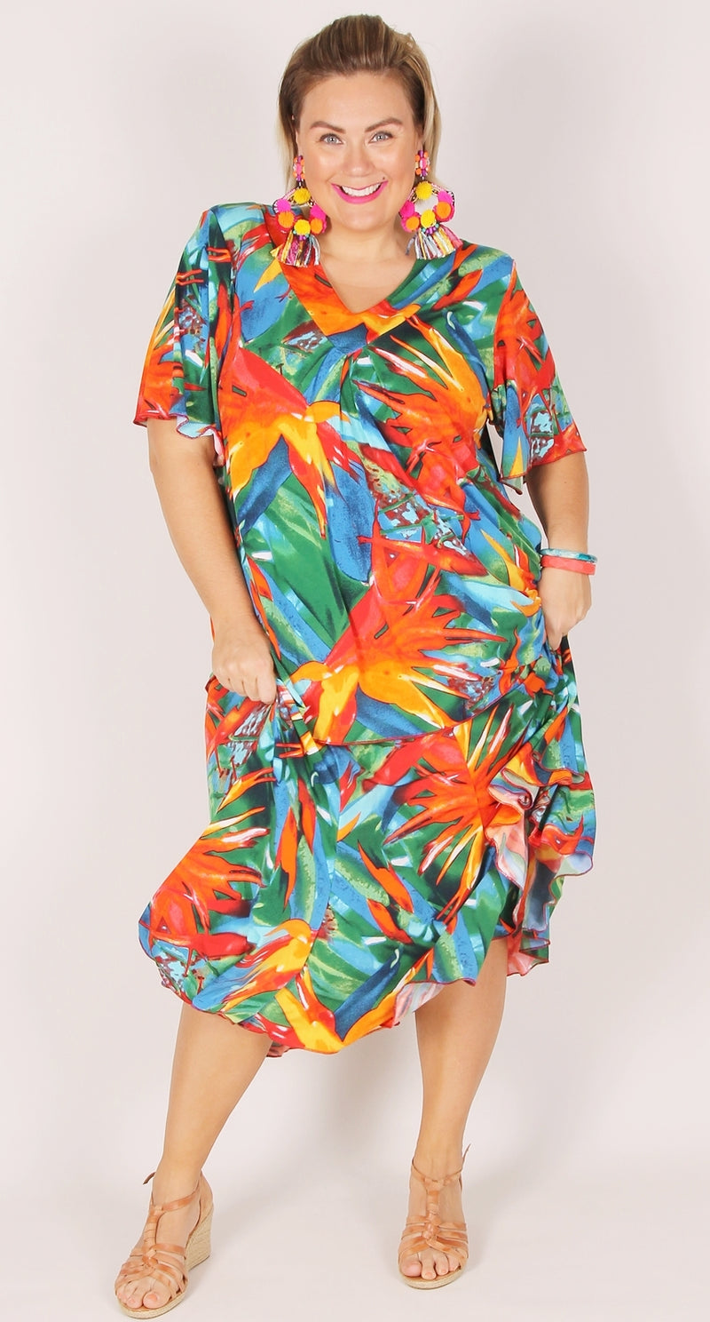 Fit & Flare Skirt Bird of Paradise