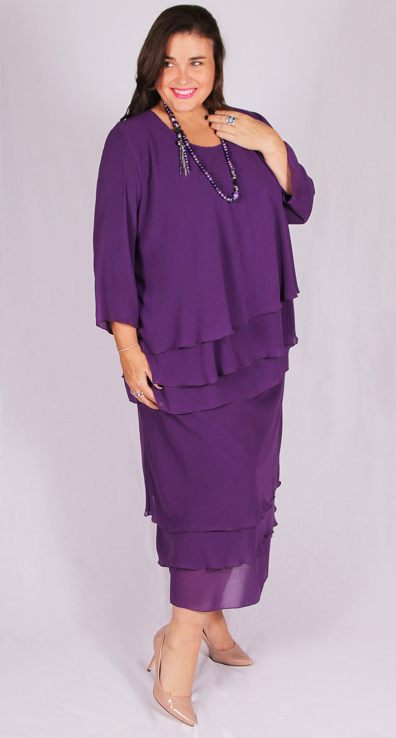 Eight Gore Skirt Soft Plum