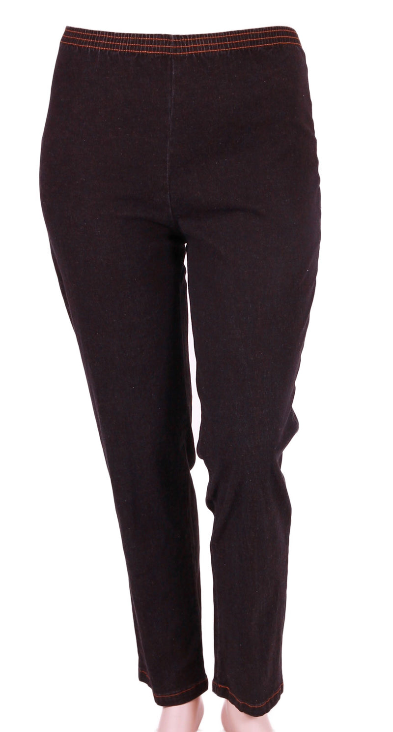 Cafe Black Stretch Denim Pull-On Jean