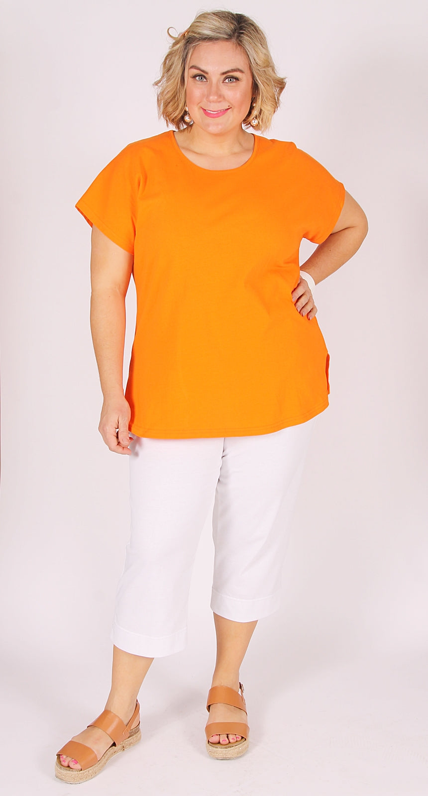 Easy Cotton Shell Top Orange