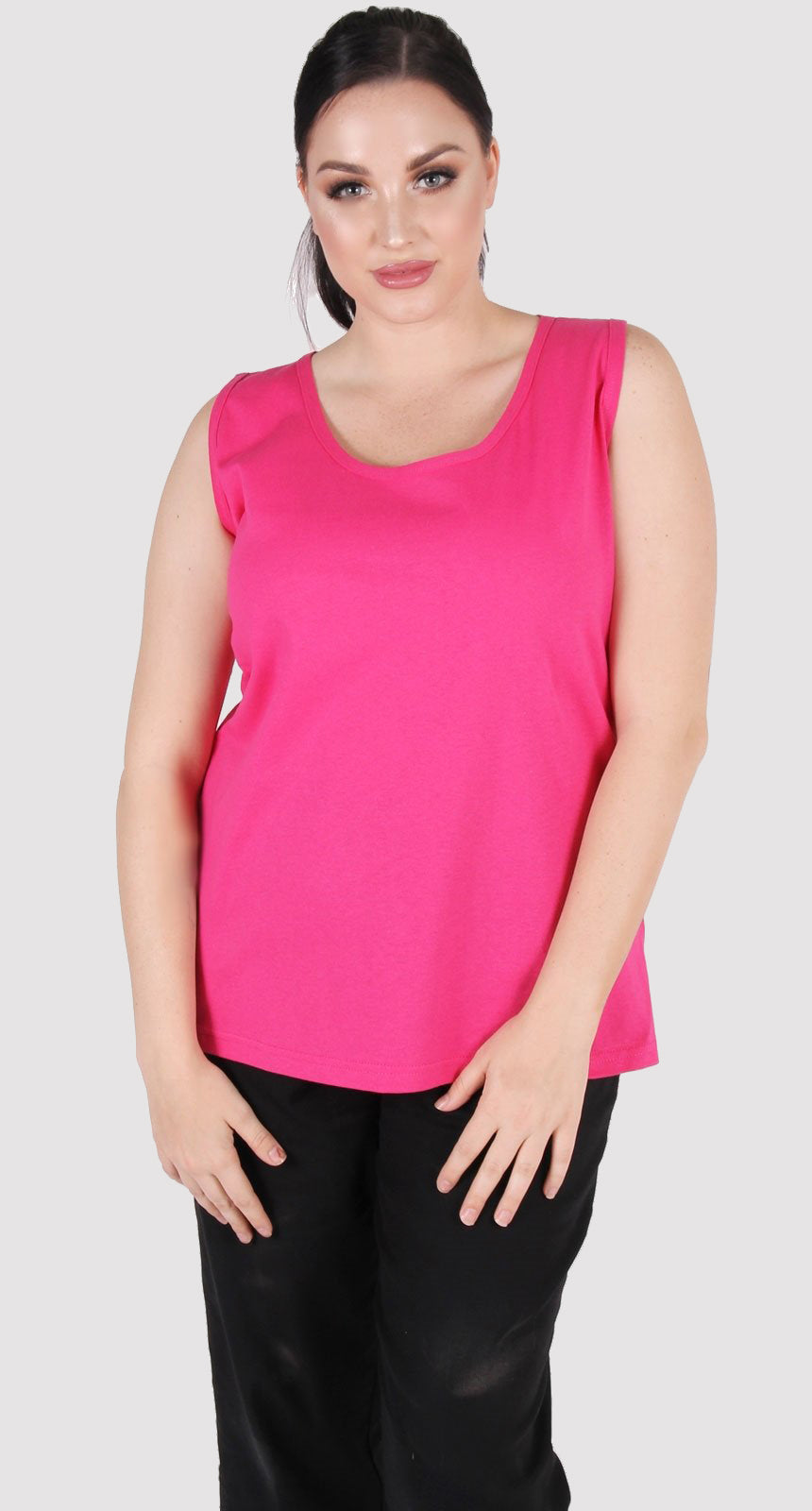 Derby Cotton Cami Pink