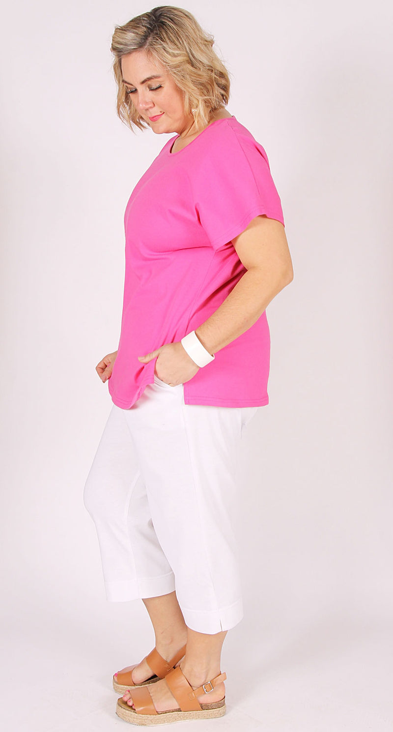 Easy Cotton Shell Top Pink