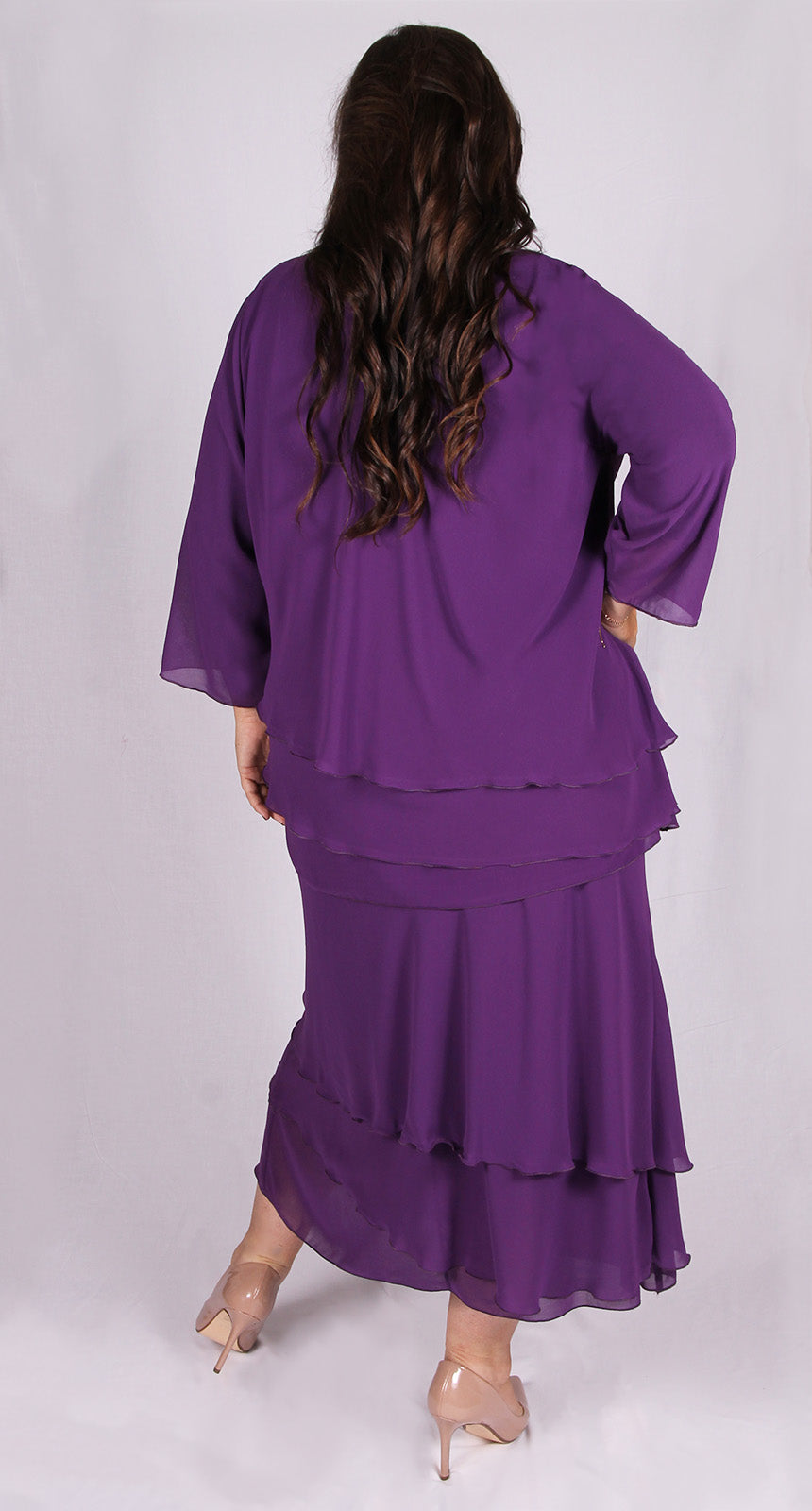 Rosaline Chiffon Layer Skirt Plum