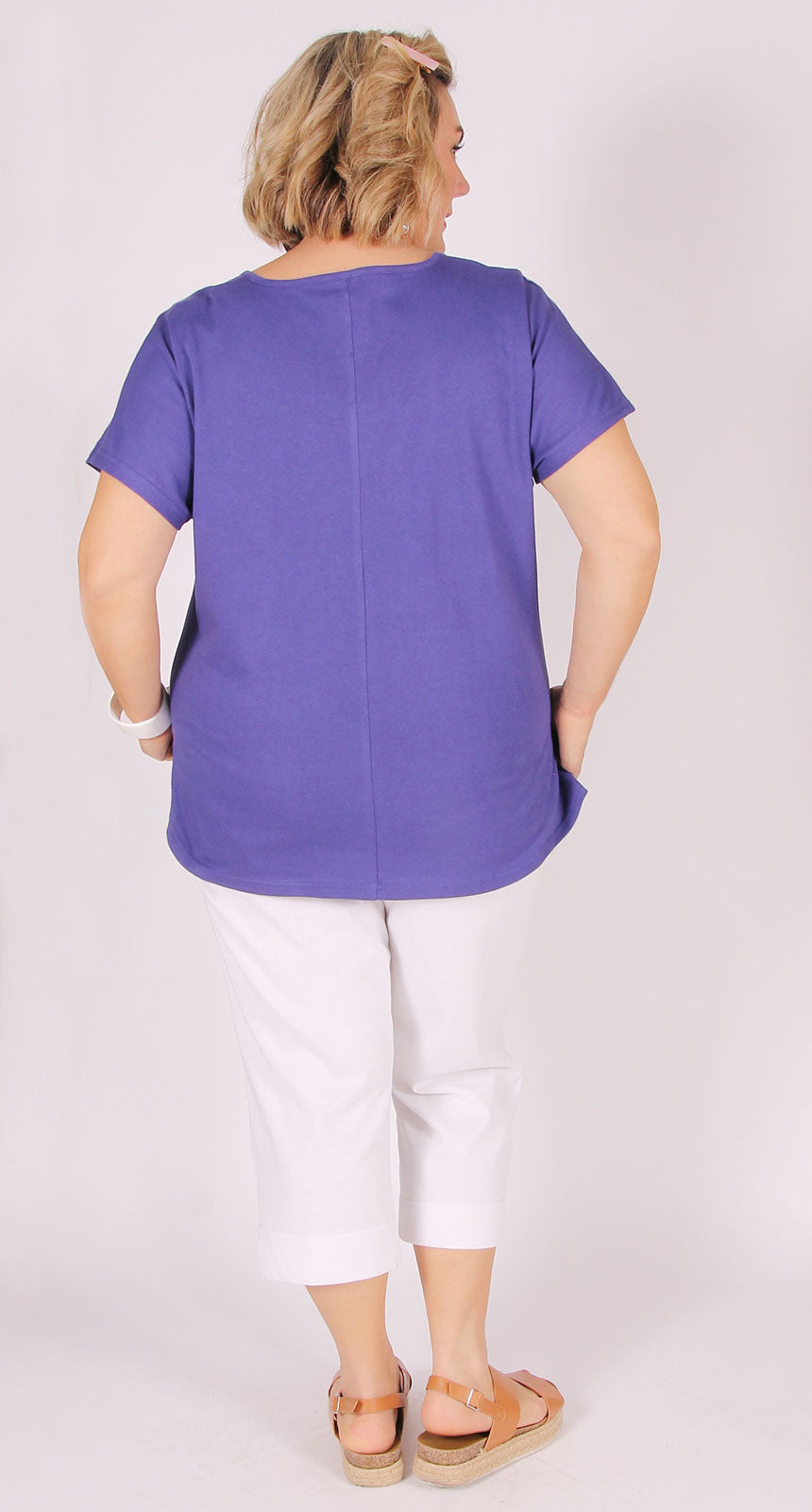 Easy Cotton Shell Top Purple
