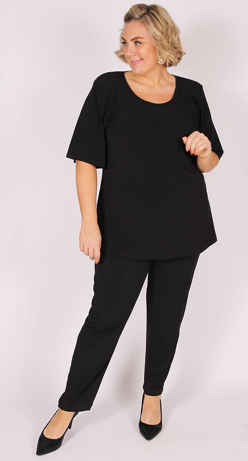 Sweetheart Neckline Top Essential Black