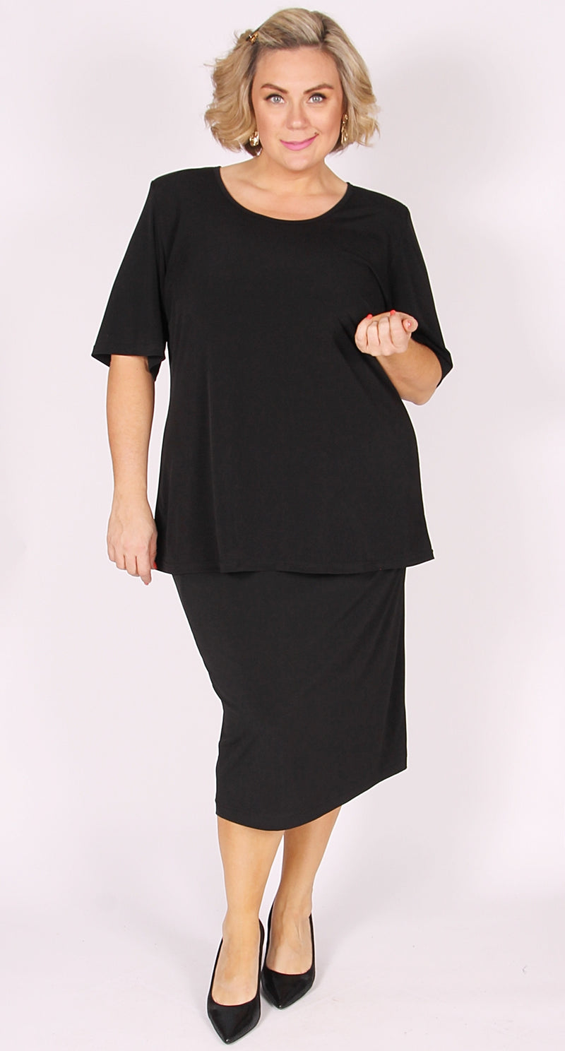 Rikki Round Neck Top Black