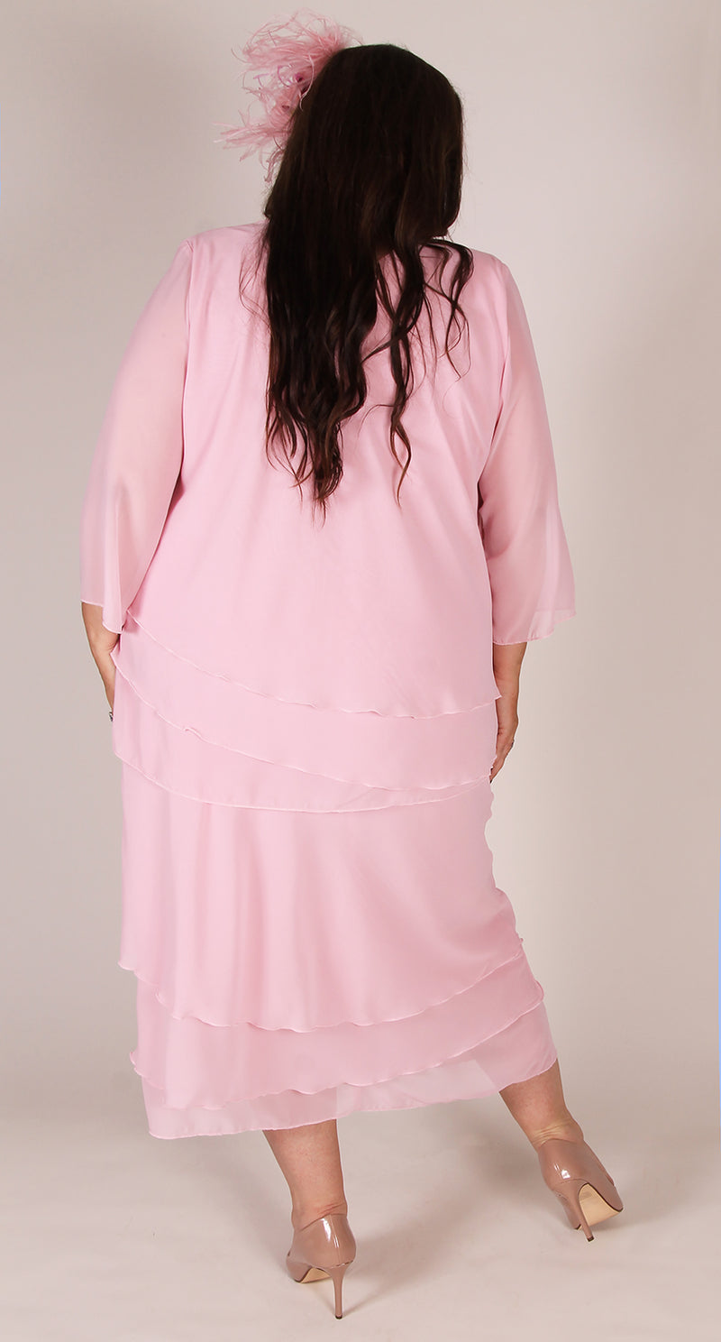 Rosaline Chiffon Layer Skirt Powder Pink