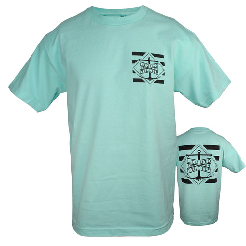 Pylon Mens Standard Tee in Celadon - Front/Back
