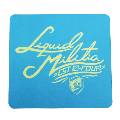 Electric Mousepad in blue yellow