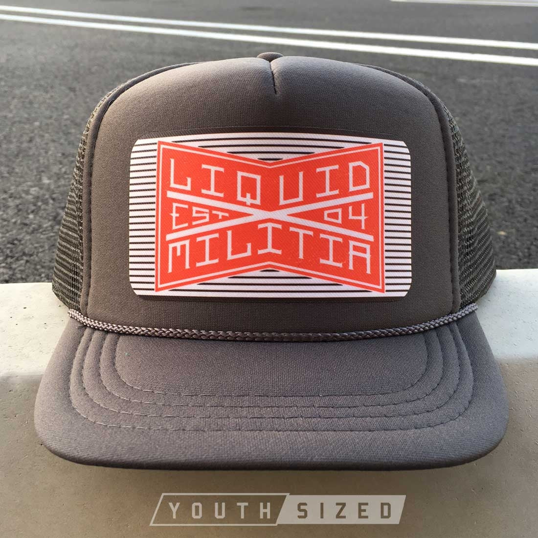 Liquid Militia Bind Youth Hat in Charcoal Gray