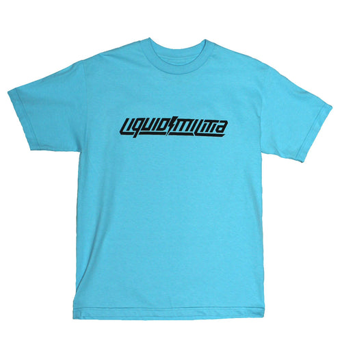 Foundation Mens Standard Tee in Pacific Blue