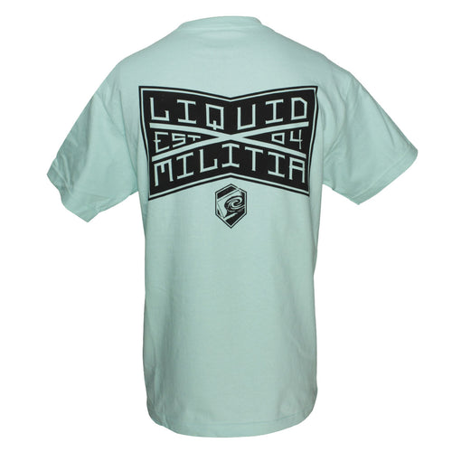 League Mens Standard Tee in Celadon - Back