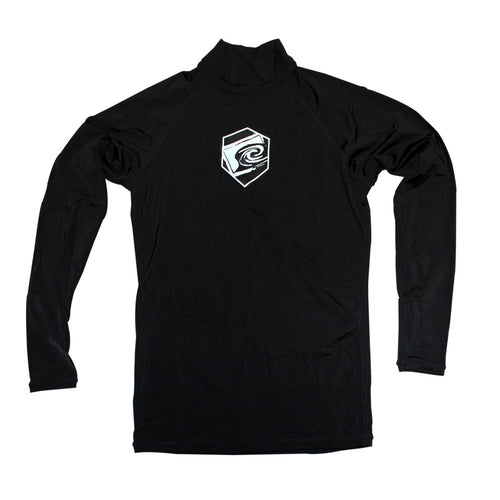 Motion Long Sleeve Rashguard in Black - Front View