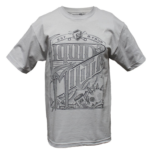 Wrench Party Mens Standard Tee in Silver