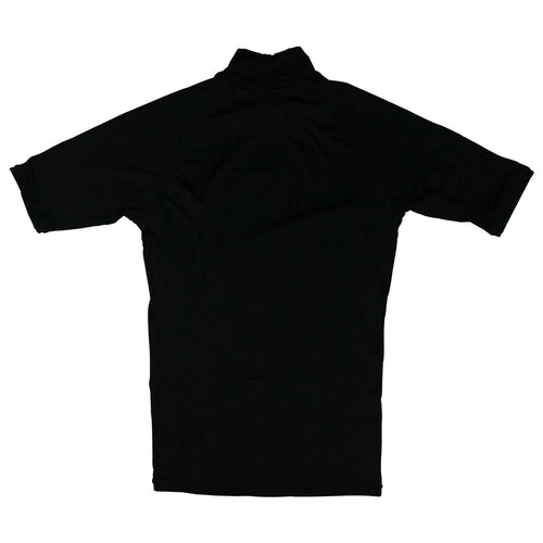 Distant Short Sleeve Rashguard in Black - Back View