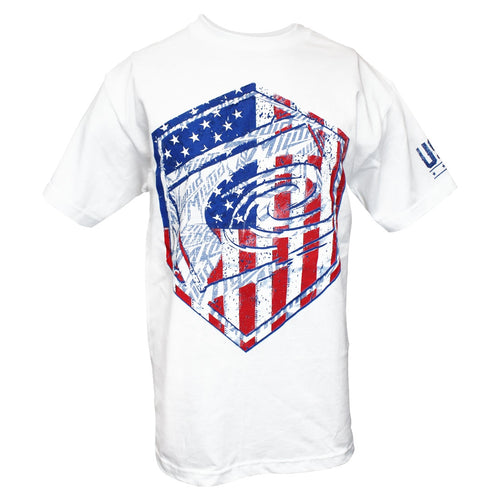 Men's patriotic t-shirt American flag logo | Liquid Militia