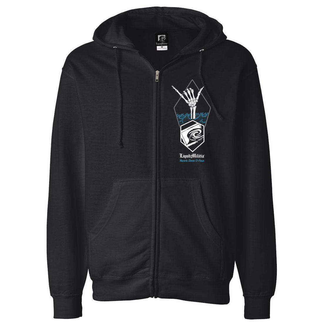 Shaka Mens Zip Up  Hoodie Sweatshirt In Black