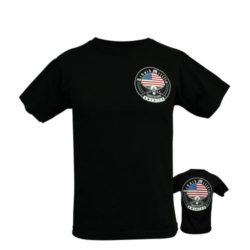 Uprise Youth Boys Tee in Black - Front/Back