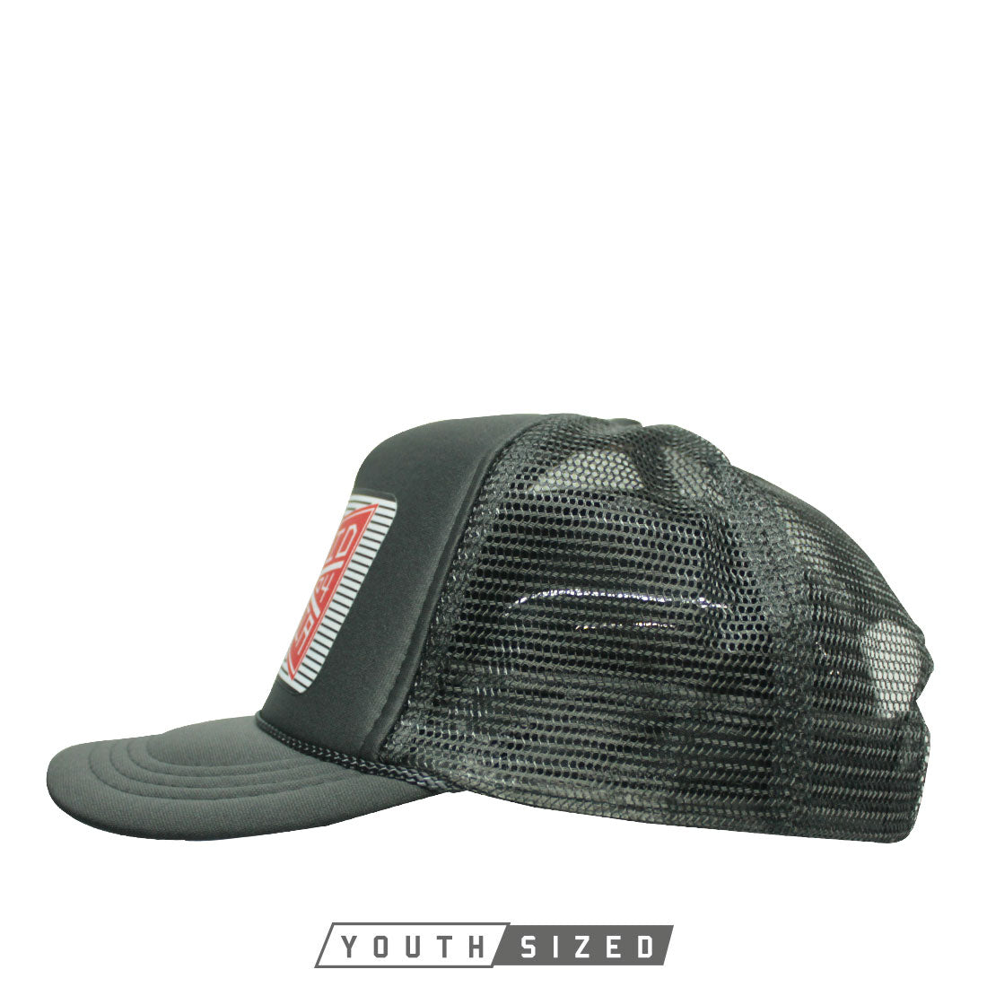 Bind Youth Hat in Charcoal Gray - Side View