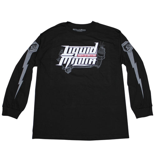 Burst Mens Long Sleeve Tee In Black