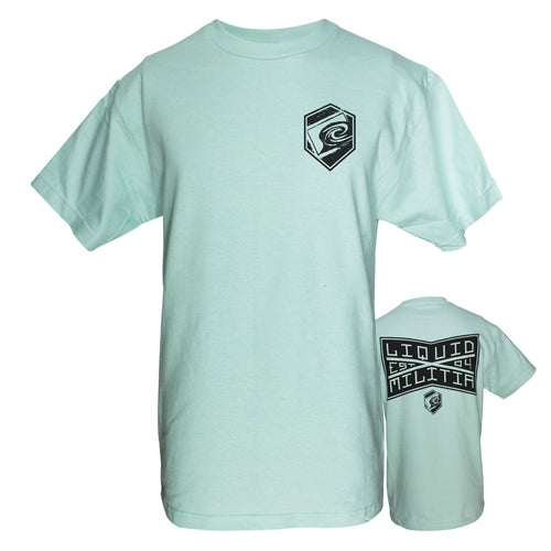 League Mens Standard Tee in Celadon - Front/Back