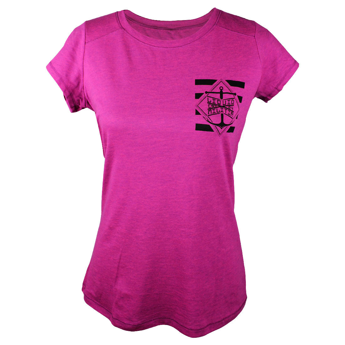 Jetty Girls Tee in Pink Heather