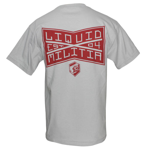 League Mens Standard Tee in Silver - Back