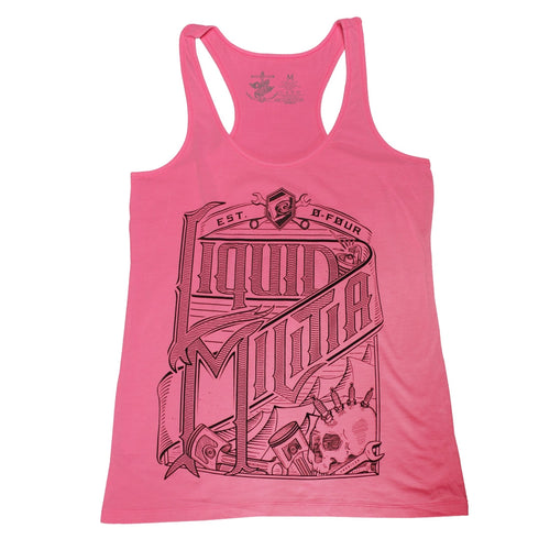 Wrench Party Girls Racerback Tank in Neon Pink