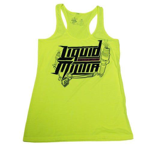 Sparklet Girls Racerback Tank in Neon Yellow
